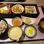 かんざし茶屋 - 姫鯛フライと豚角煮セット 980円
