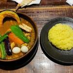 ラマイ - ラマイ 札幌本店@福住 ポーク・スープ大盛り・ライスS・辛さ10(1200円)