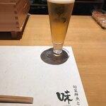 旬菜鮮魚と鍋 味十 - まずはビール