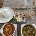 タイ料理ぺっぽい - Bランチ(¥1380)結構ボリュームあります。さらに大盛り(¥1480)もあり。