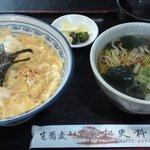 大道 更科 - 玉子丼セット(蕎麦)