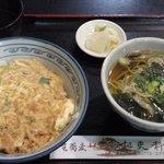 大道 更科 - はいから丼セット(蕎麦)