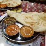 印度キッチン - 3カレーセット 3種類カレー、サラダ、ドリンク、ナン&ライス食べ放題