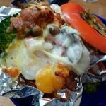 お料理やまもと - 中に牡蠣がふわふわと。