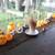 パンプルムゥス - ドリンク写真:アヒルに囲まれてカフェオレ