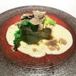 120797725 - 豚肉と白菜のミルフィー仕立てフォンドゥータソース