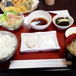 夕凪 - 車えび定食(付け合せ)