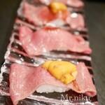 恵比寿焼肉 うしごろバンビーナ -  肉寿司ウニのせ