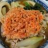 Kiraku - 料理写真:とりうどん 750円 (かき揚げはご厚意サービス品)