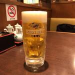 大衆食堂正広 - 日本の生ビールは、頼むまでが楽しみです、飲むと「しまった、また、頼んじまったゼ! 」となるので普段は取らないけどつい #シャシン撮りたいだけ で。