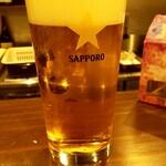 ビール長屋 貫太郎 - 先ずは生ビール(^^♪