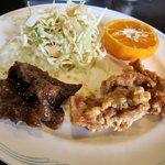 桂林 - 鶏の唐揚げ、牛肉の炒め物