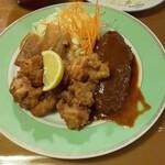 ポリネシアン - 唐揚げ、ハンバーグ