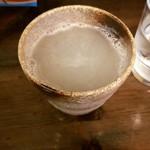 そば酒房 福島 - 蕎麦湯