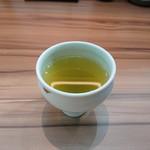 まるや本店 - 食後の緑茶