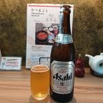 まるや本店 - 瓶ビール(710円)