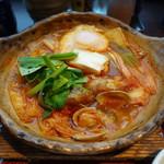 大戸屋 - コク辛チゲ鍋定食890円