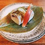 120849443 - カマスの蕎麦寿司
