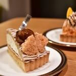 PARADIS - 料理写真:モンブランタルト@530円:栗は茨城県産出そう。