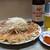 むつ菊 - 料理写真:餃子・大(20コ)&ビール