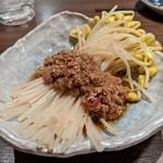 takigyouzakawazoe - もやし肉ナムル