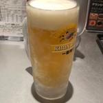 らあめん花月嵐 - 生ビール490円