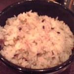 12088248 - ご飯は古代米玄米なので、色つきです