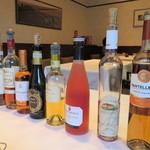 クリマ ディ トスカーナ - 貴腐ワインがずら~り 一本ずつ説明を聞いて選びました♪