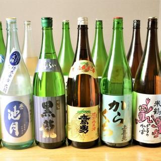 【日本酒】全国ら取り寄せる、厳選した日本酒が毎日10種以上