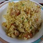 中国料理 布袋 - ザンギ炒飯 アップ