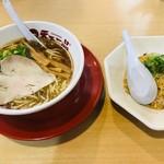 天下一品 - 料理写真:あっさり(770円)+炒飯