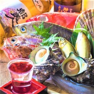 【産地直送】の厳選素材を使用した海鮮料理や淡路牛をご堪能!