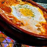 バスクバル・チャコリ - 裏メニュー『ピペラード』野菜の煮込みと卵を合わせます♬