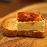 セルサルサーレ - フォアグラのブリュレとエスプレッソの食パン