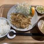 和風カフェ しゅしゅ - しょうが焼き定食