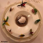 シェムラブルリス - 若鶏と舞茸のフリカッセ、カプチーノ仕立