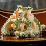 ondo - 海老とゴーヤーの胡麻マヨネーズ炒め