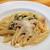 オステリア ラ マンテ - 料理写真:ベーコンと春菊のクリームソース・ペンネ(パスタランチ)