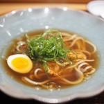 肉割烹 上 - テール醤油ラーメン 桜海老 九条葱 煮卵