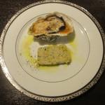 Esukobayashi - 長崎 小長井の牡蠣のオーブン焼き、広島 安芸の牡蠣のテリーヌ