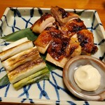 120970812 - 鶏モモ肉の照り焼き、ネギ焼きとマヨ付き!