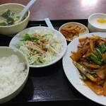 120983659 - リアル回鍋肉定食 880円(込)
