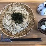 竜人 - 料理写真:・Aセット 1,000円 税込 (蕎麦、出汁巻き、小鉢、漬物、デザート)