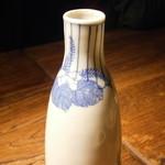 蕎麦懐石 無庵 - 燗酒 喜正 徳利 2本目