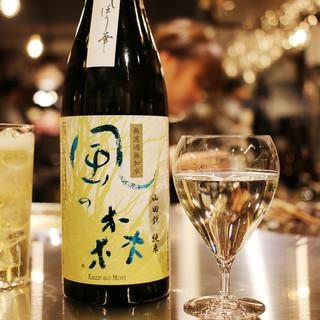 日本酒は常時10種+季節のお酒