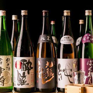 全国の地酒や果実酒など100種類以上の豊富なドリンクをご用意