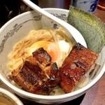 120993505 - 濃厚神山つけ麺の圧巻ブロックチャーシュー!