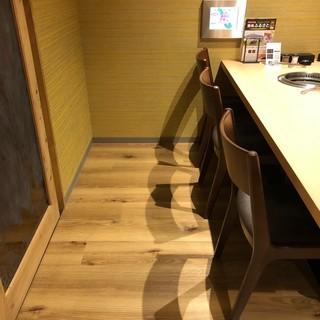 壁と座席の間を広くとっていますので特殊車椅子でも安心してご入席頂けます。