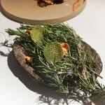ラ・ヴァガボンド - 菊芋のチップス、クロロフィルチップス