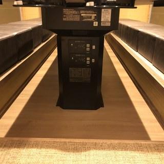 掘りごたつ席は全席床暖房完備のため足元ポカポカです。